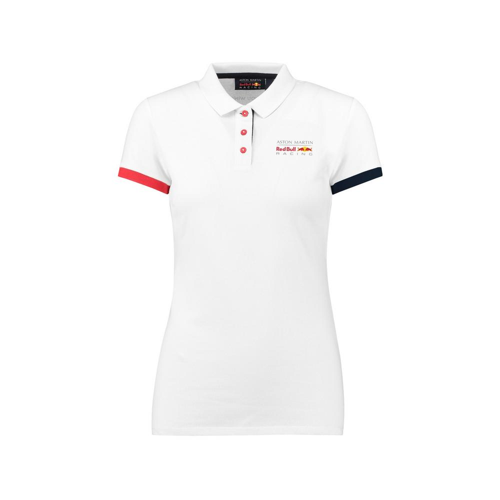 Sale! Aston Martin Red Bull Racing F1 Team Womens Classic Polo Shirt Ladies Girl