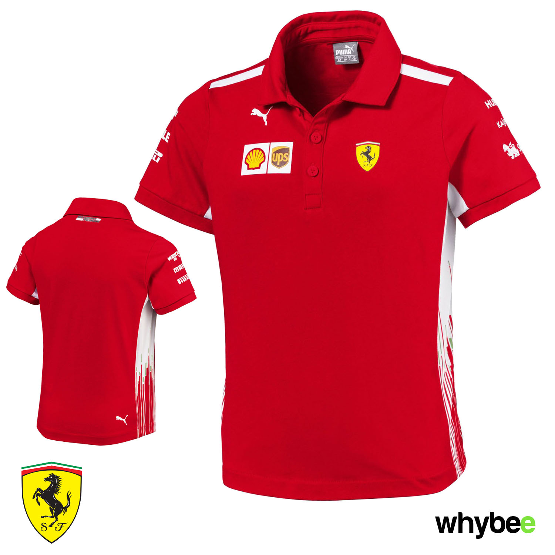 b4b51845e8 Sentinel 2018 Scuderia Ferrari F1 Team Childrens Polo Shirt Kids Boys Sizes  Ages 7-14yrs