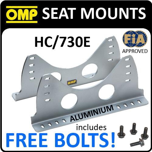 SALE! HC/730E OMP RACING ALUMINIUM SILVER SEAT MOUNT SIDE BRACKETS BUCKET SEATS