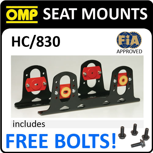 HC/830 OMP RACING FIA SEAT MOUNT BRACKETS WITH BUILT IN DAMPERS PATENTED MODEL