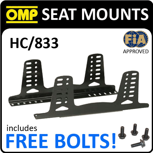 SALE! HC/833 OMP ALUMINIUM FIA SEAT MOUNT BRACKETS 6mm THICK & 495mm LENGTH