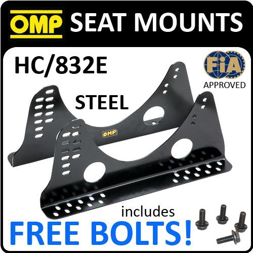 SALE! HC/832E OMP RACING BLACK STEEL RACE SEAT ADJUSTABLE SIDE MOUNTS TALL MODEL