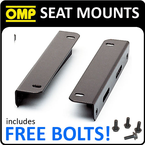"""HC/660 OMP RACING """"L"""" SHAPED SEAT MOUNT BRACKETS FOR LOWER MOUNT SEAT (TYPE Y)"""