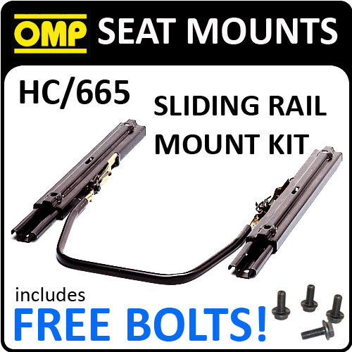 HC/665 OMP SLIDING SEAT MOUNT KIT FOR RACE BUCKET SEATS WITH FREE FITTING BOLTS!