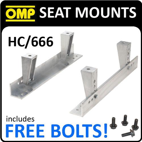 HC/666 OMP RACING UNIVERSAL RACE SEAT MOUNTS ALUMINIUM WITH FREE OMP BOLTS!