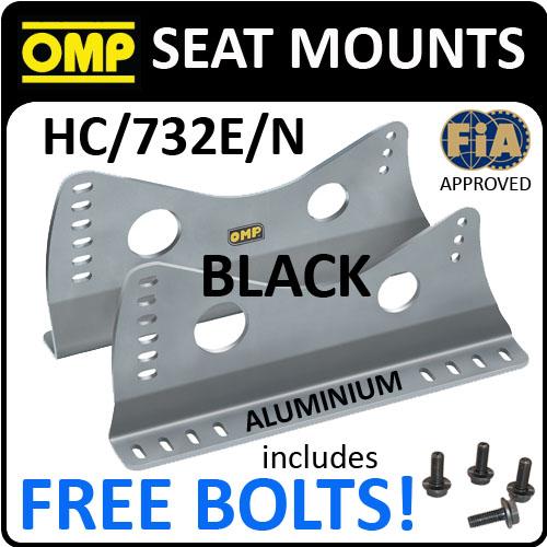SALE! HC/732E/N OMP RACING SEAT MOUNT SIDE BRACKETS BLACK & FREE FITTING BOLTS!