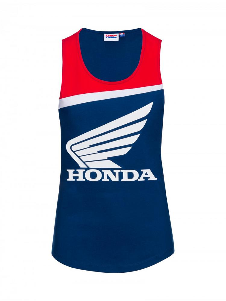 Honda Team HRC 2018 Womens Ladies Blue Tank Top Vest Girls Sizes MotoGP MXGP