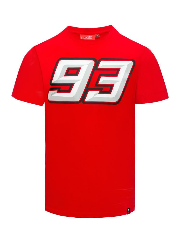 2018 Marc Marquez Honda MotoGP Mens 93 Logo T-Shirt Red 100% Cotton Sizes S-XXXL