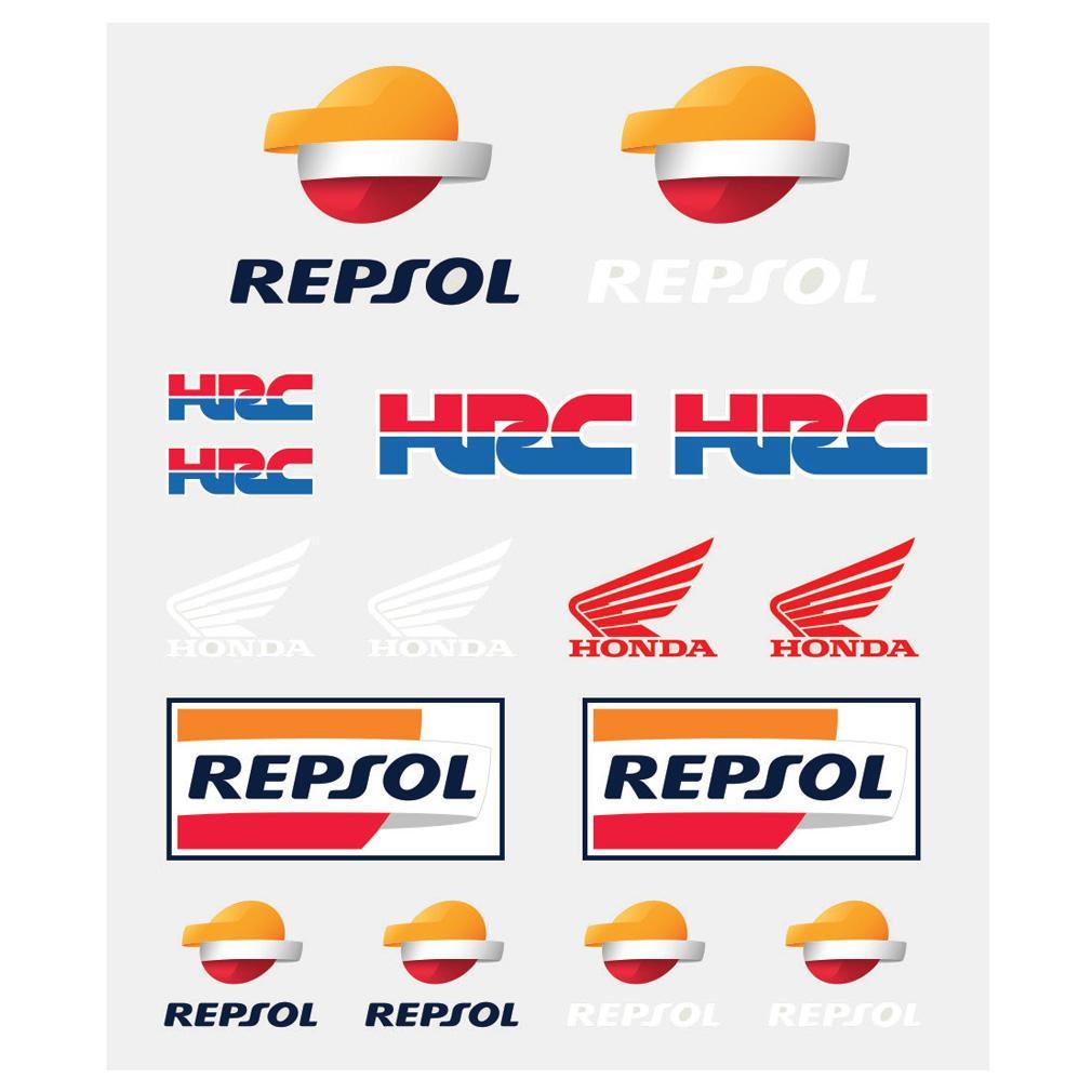 Repsol Honda Motogp 2018 Sticker Pack 16 Multi Coloured Decals