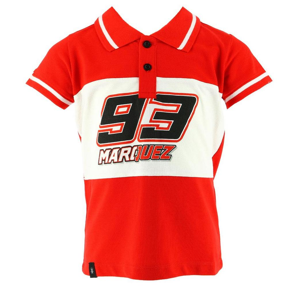 Marc Marquez 2018 93 Childrens Red Logo T-Shirt Kids Boys Age 2-11 Honda MotoGP
