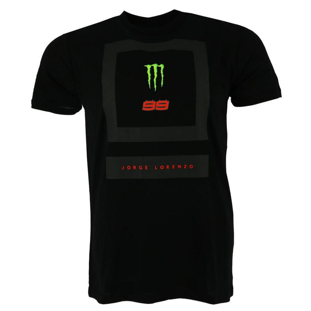 2018 Jorge Lorenzo 99 Monster Energy Black Square Mens T-Shirt Official MotoGP