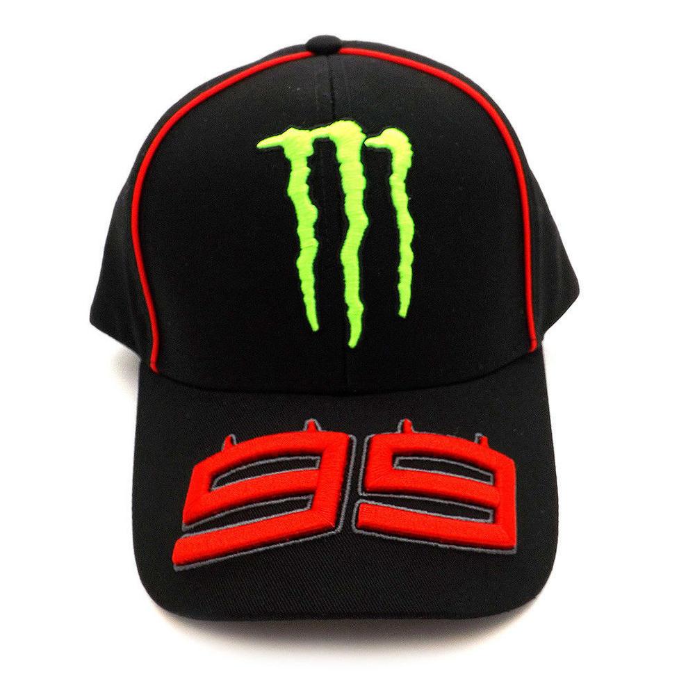 2018 Jorge Lorenzo 99 Monster MotoGP Mens Black Baseball Cap Trucker Hat Adult