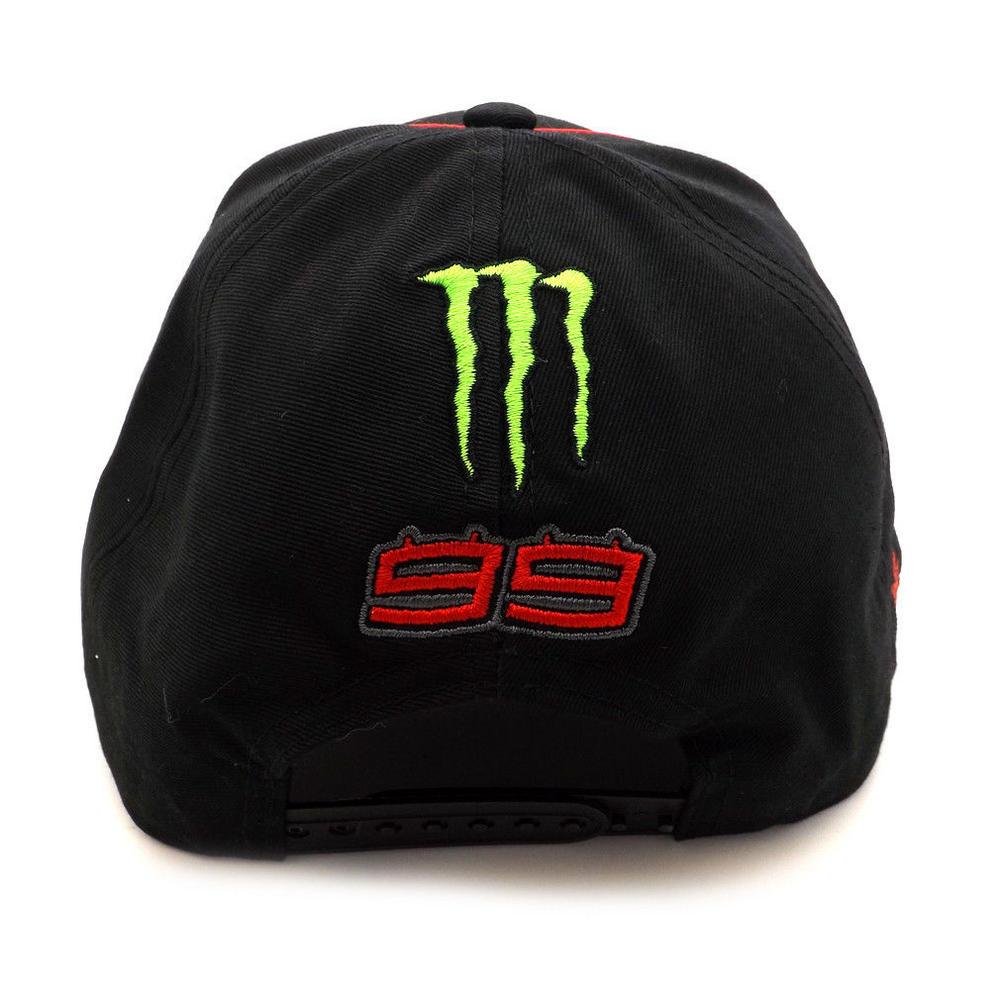 0c127cf4 2018 Jorge Lorenzo 99 Monster MotoGP Mens Black Baseball Cap Trucker ...