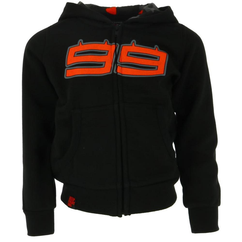 Sale! Jorge Lorenzo 99 MotoGP Kids Childrens Boys Black Hoody Hoodie Ages 2-11