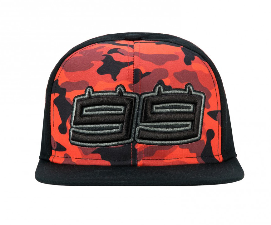 f345ff47 2018 Jorge Lorenzo 99 MotoGP Mens Flatbrim Camo Baseball Cap Trucker Hat