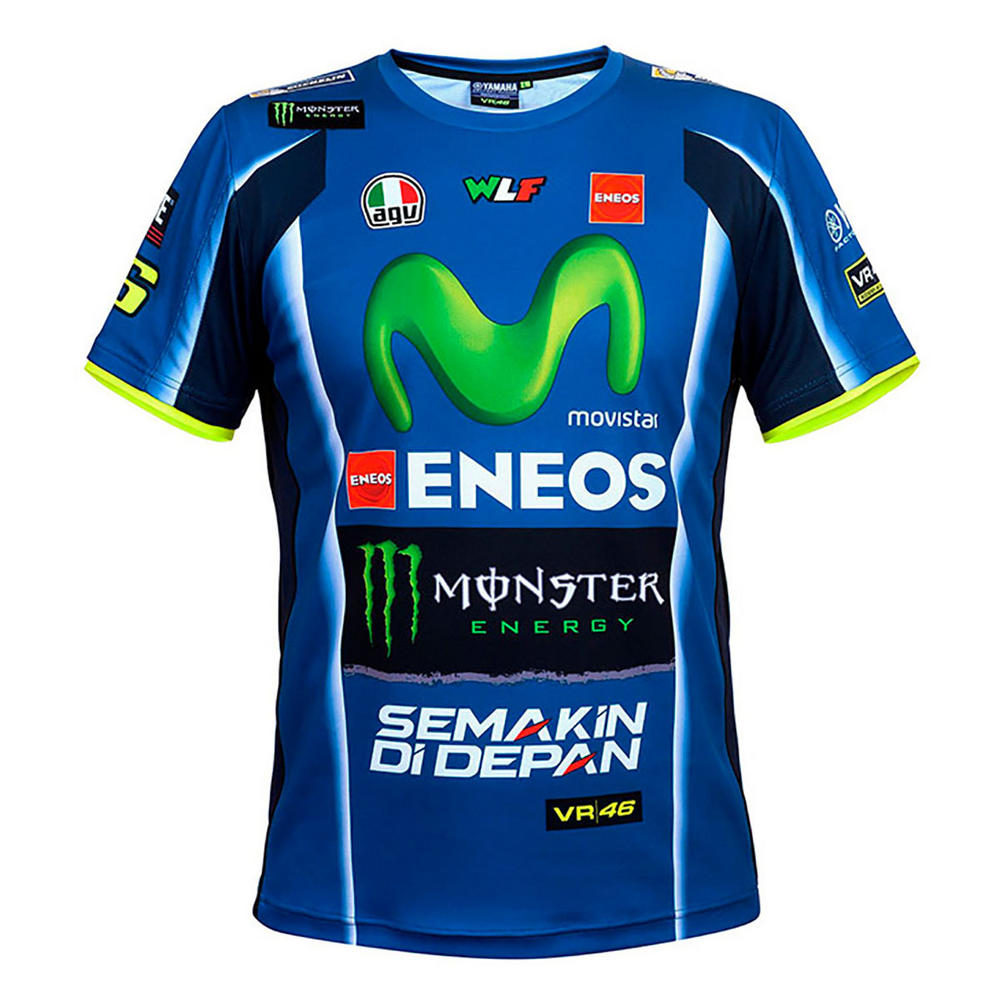 2018 VR46 Valentino Rossi #46 MotoGP Mens Team T-Shirt TEE Yamaha Factory Racing