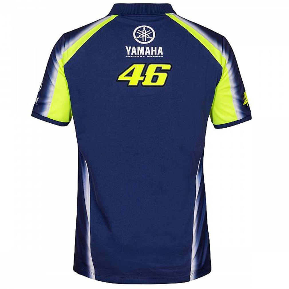 Sentinel 2018 VR46 Valentino Rossi  46 MotoGP Mens Team Polo Shirt Yamaha  Factory Racing 5b3a460586dc9