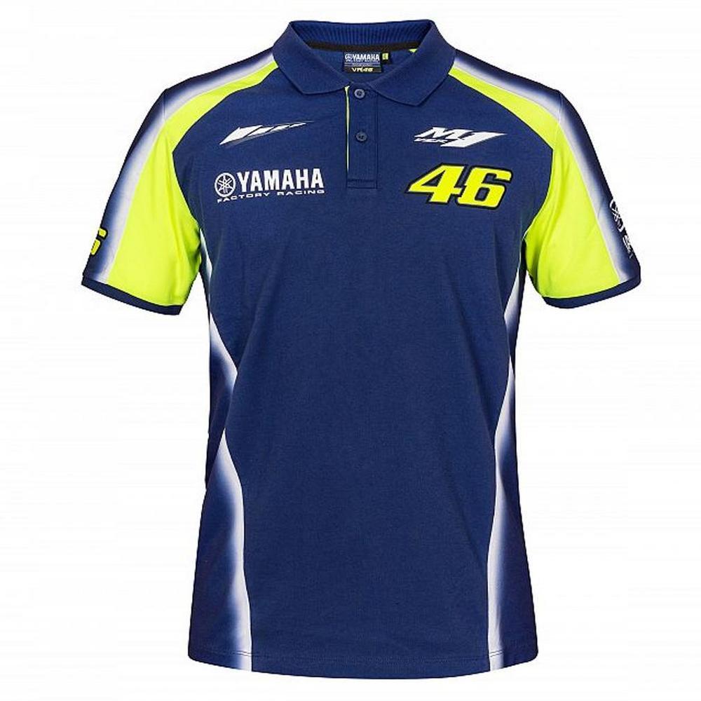 2018 VR46 Valentino Rossi #46 MotoGP Mens Team Polo Shirt Yamaha Factory Racing