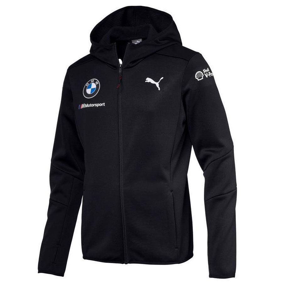 Details about Official 2018 Puma BMW M Sport Motorsport Team Mens Hooded  Mid Layer Jacket Coat