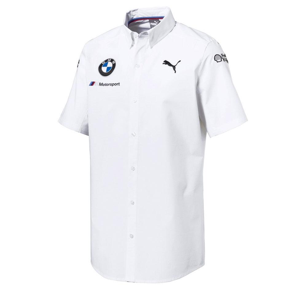 Details about Official 2018 Puma BMW M Sport Motorsport Team Mens White  Shirt Short Sleeve