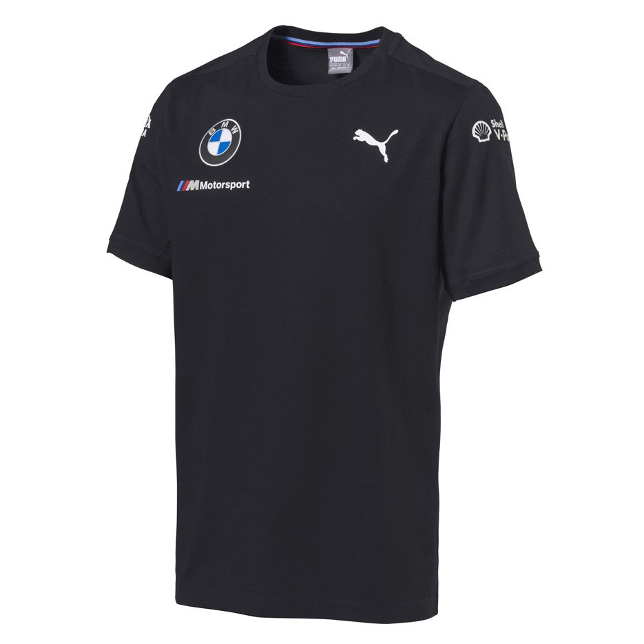Official 2018 Puma BMW M Sport Motorsport Team Mens T-Shirt TEE Navy Blue Cotton