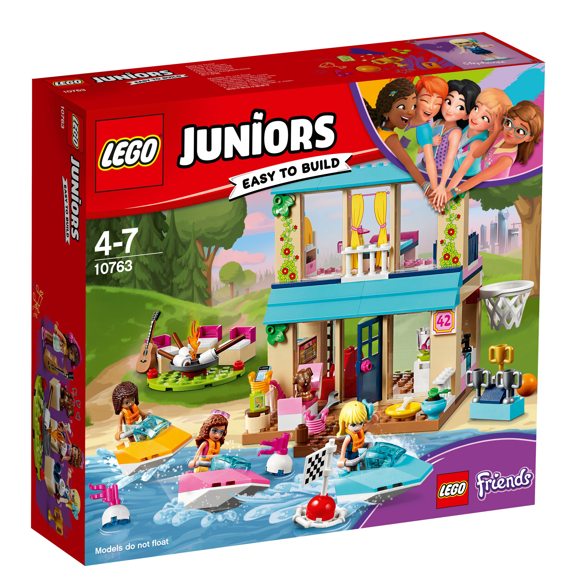 10763 LEGO Juniors Friends Stephanie's Lakeside House 215 ...