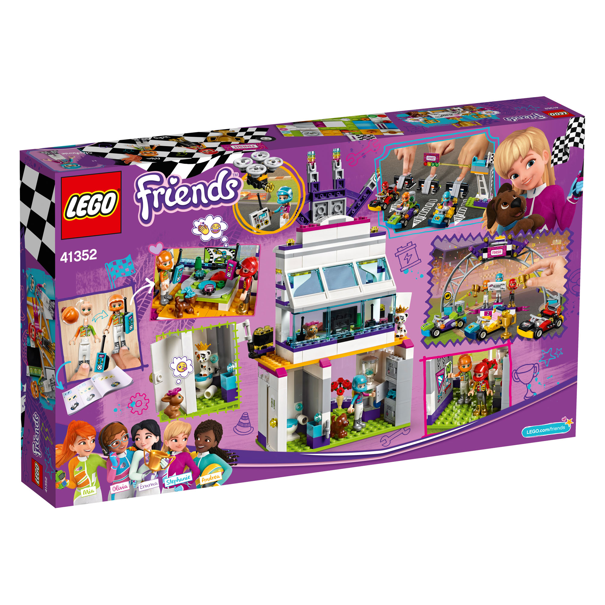 41352 Lego Friends The Big Race Day 648 Pieces Age 7 New Release
