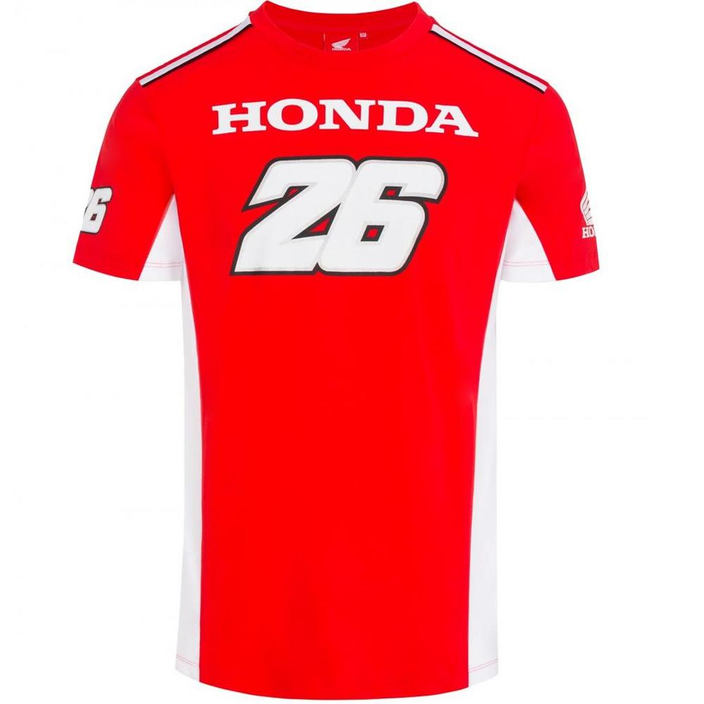 2018 Honda Team Dani Pedrosa #26 MotoGP Mens T-Shirt Tee Red in Sizes S-XXL