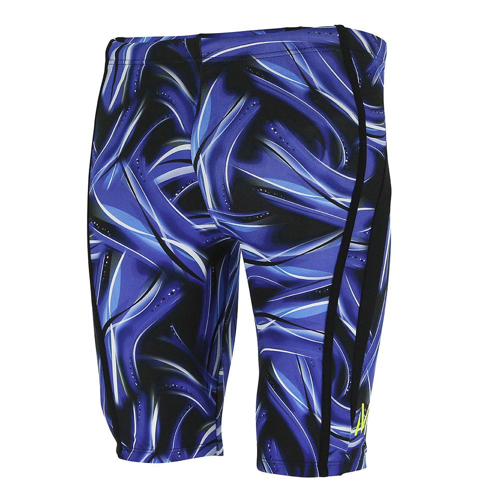 bnwt MARKS /& SPENCER WIDE LEG TROUSERS LINEN BLEND UK 18 LONG BLUE FEINT WEAVE