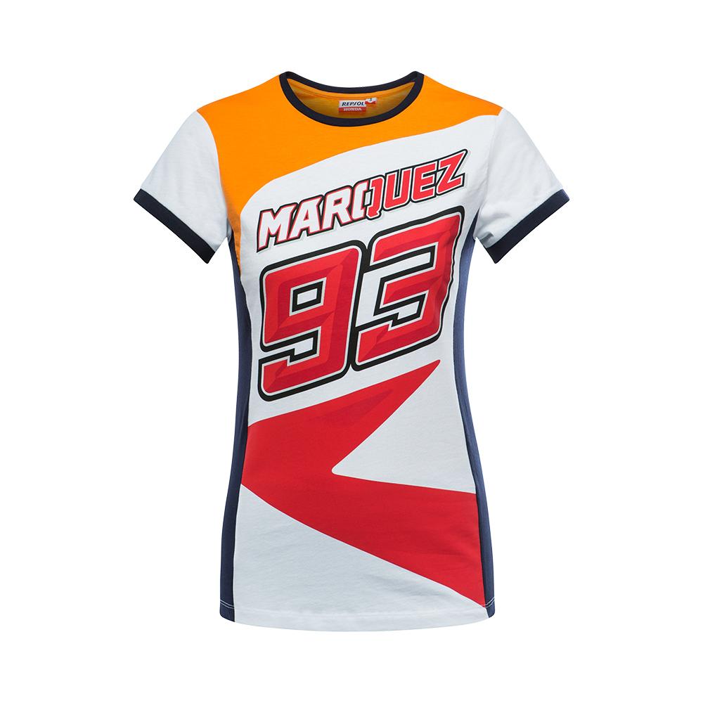 2018 Marc Marquez Honda MotoGP Mens 93 Logo T-Shirt Red White Cotton Sizes S-XXX