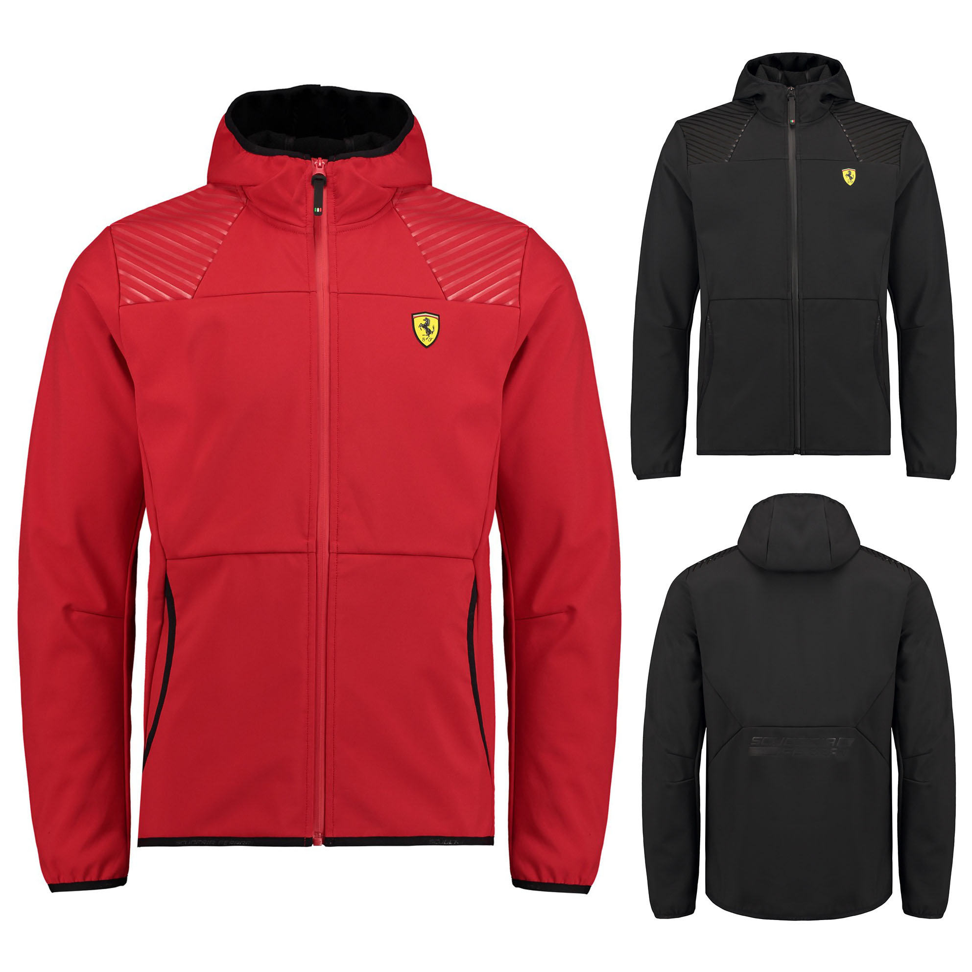 Details about 2018 Scuderia Ferrari Mens Soft Shell Fleece Jacket Zip Up Coat Sizes XS XXL