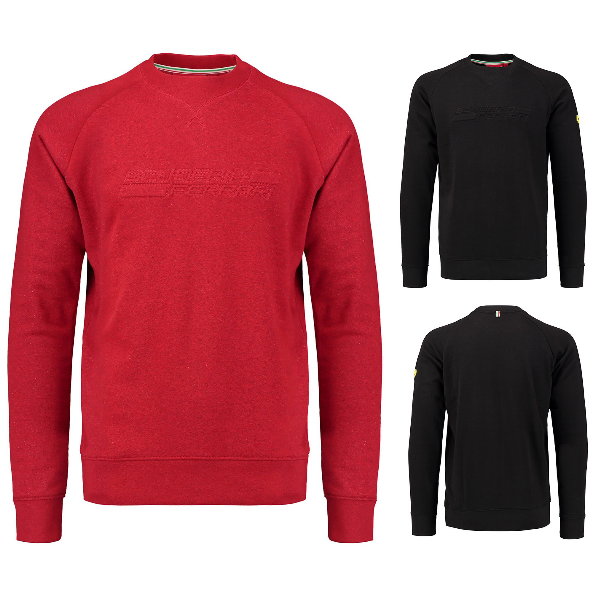2018 Scuderia Ferrari Mens Mid Layer LONG Sleeve Zip Jumper Sweater Sizes XS-XXL