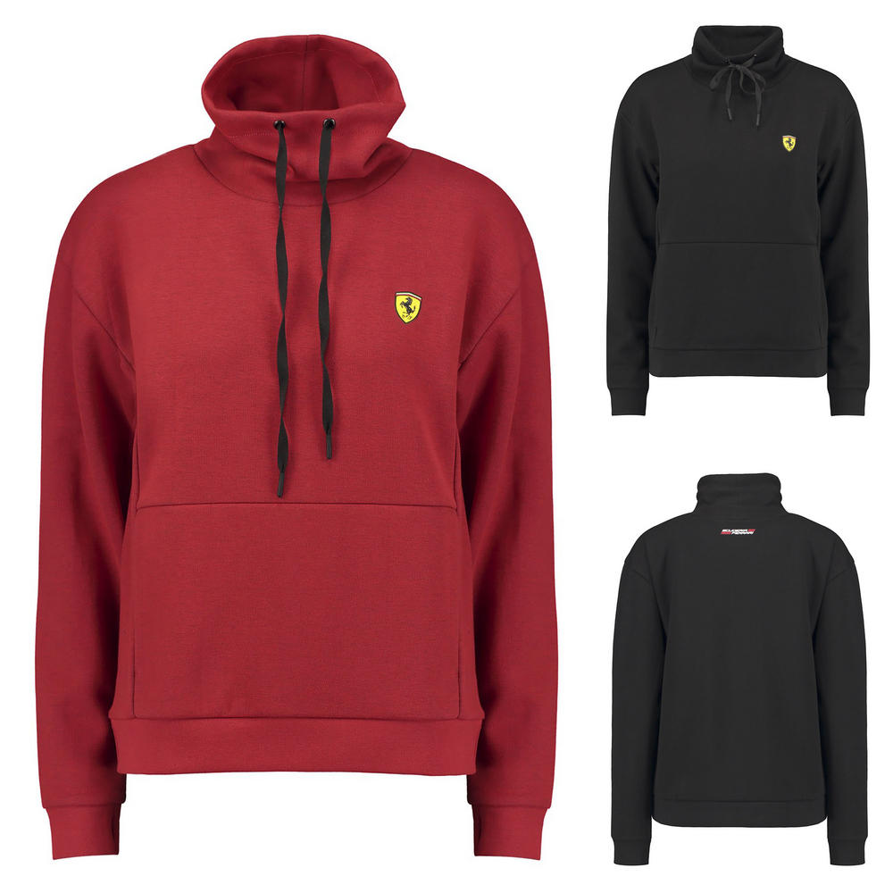 Scuderia Ferrari F1 Womens Funnel Neck Sweatshirt Hoody Hoodie Ladies Jumper