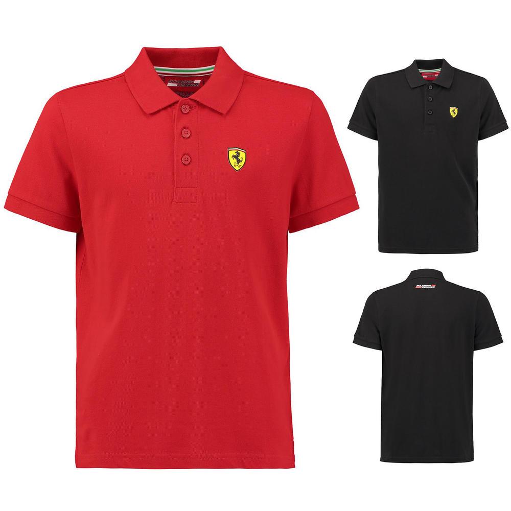 Official 2018 Ferrari Childrens Kids Classic Polo Shirt Cotton Pique Ages 1-14