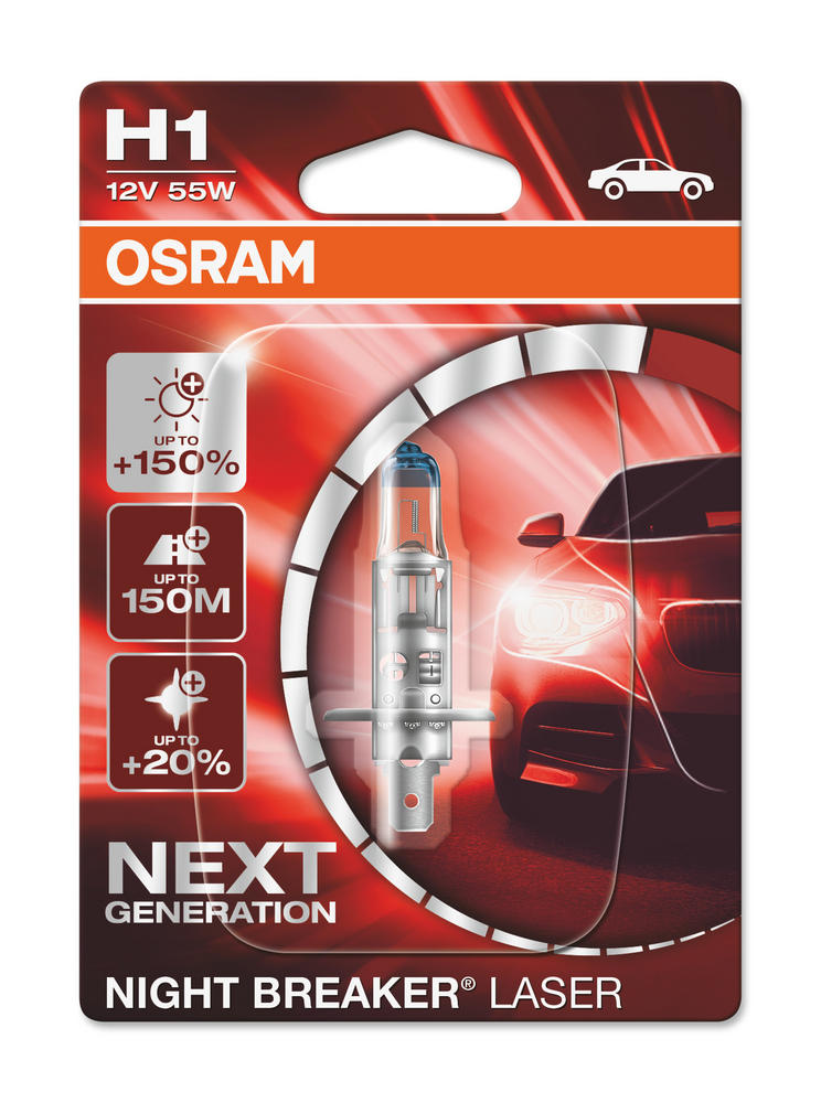 New! Osram H1 Night Breaker LASER NEXT GENERATION Bulb (x1) 64150NL-01B 448 55w