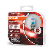 New! Osram HB4 9006 Night Breaker LASER Upgrade Bulbs (x2) 12V 51W 9006NL-HCB
