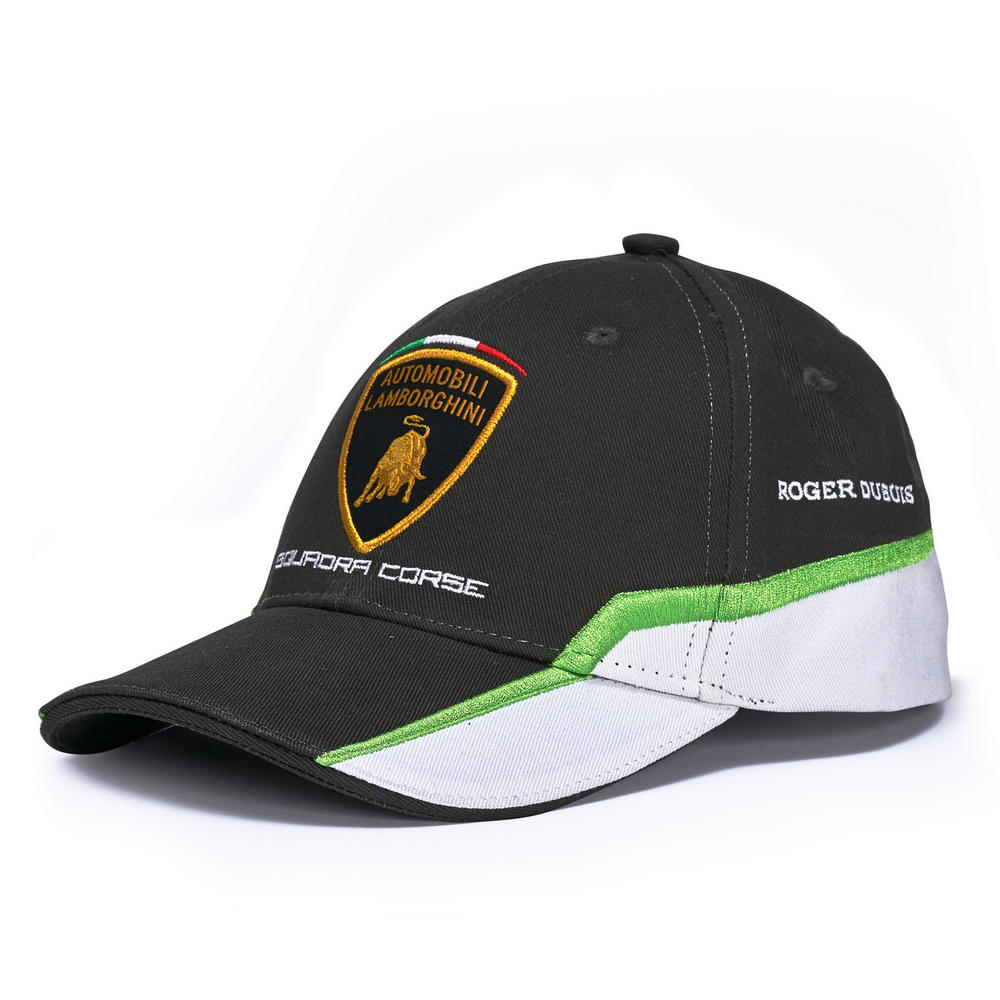 c0e6a4e5d8047 2018 Lamborghini Squadra Corse Official White Baseball Cap GT3 Team Racing