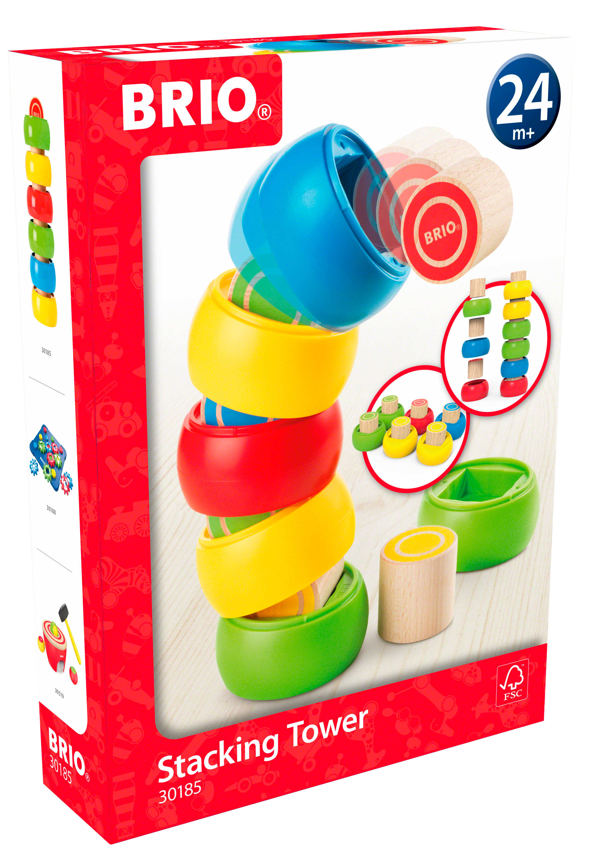 f1324c650a43 30185 BRIO Tumble   Stacking Tower Wooden Sorting Toy Toddler ...
