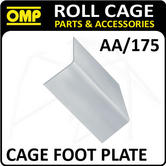 """AA/175 OMP ROLL CAGE FIXING """"L"""" SHAPE FOOT PLATE (1) FIA APPROVED RACE/RALLY"""