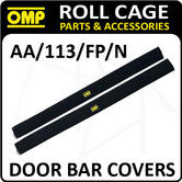 AA/113/FP/N OMP ROLL CAGE DOOR BAR COVERS 100cm BLACK VELOUR + VELCRO CLOSING!
