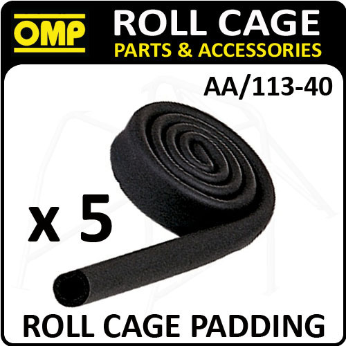 AA/113-40 OMP ROLL CAGE 10m x 40mm (5 ROLLS) FOAMED RUBBER SLEEVING FIA APPROVED
