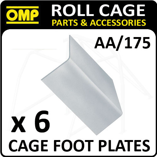 "AA/175 OMP ROLL CAGE FIXING ""L"" SHAPE FOOT PLATES (x6) FIA APPROVED RACE/RALLY"