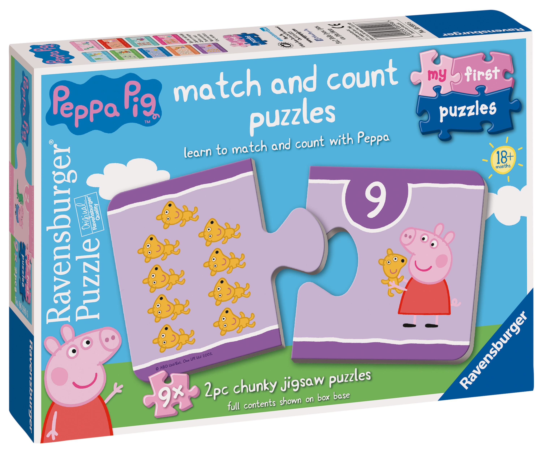 06999 Ravensburger Peppa Pig Jigsaw Puzzles 9x 2pc Kids Childrens