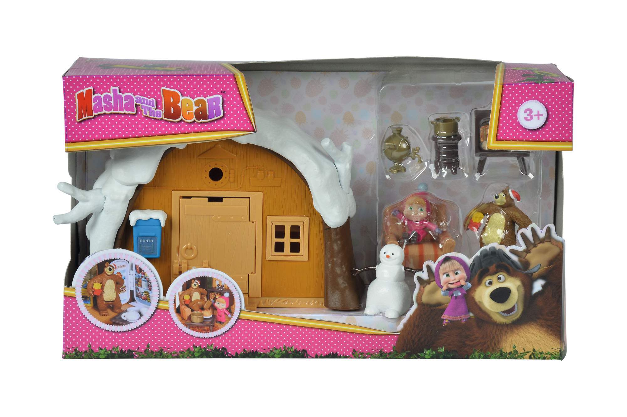 109301023 masha and the bear bear winter house playset. Black Bedroom Furniture Sets. Home Design Ideas