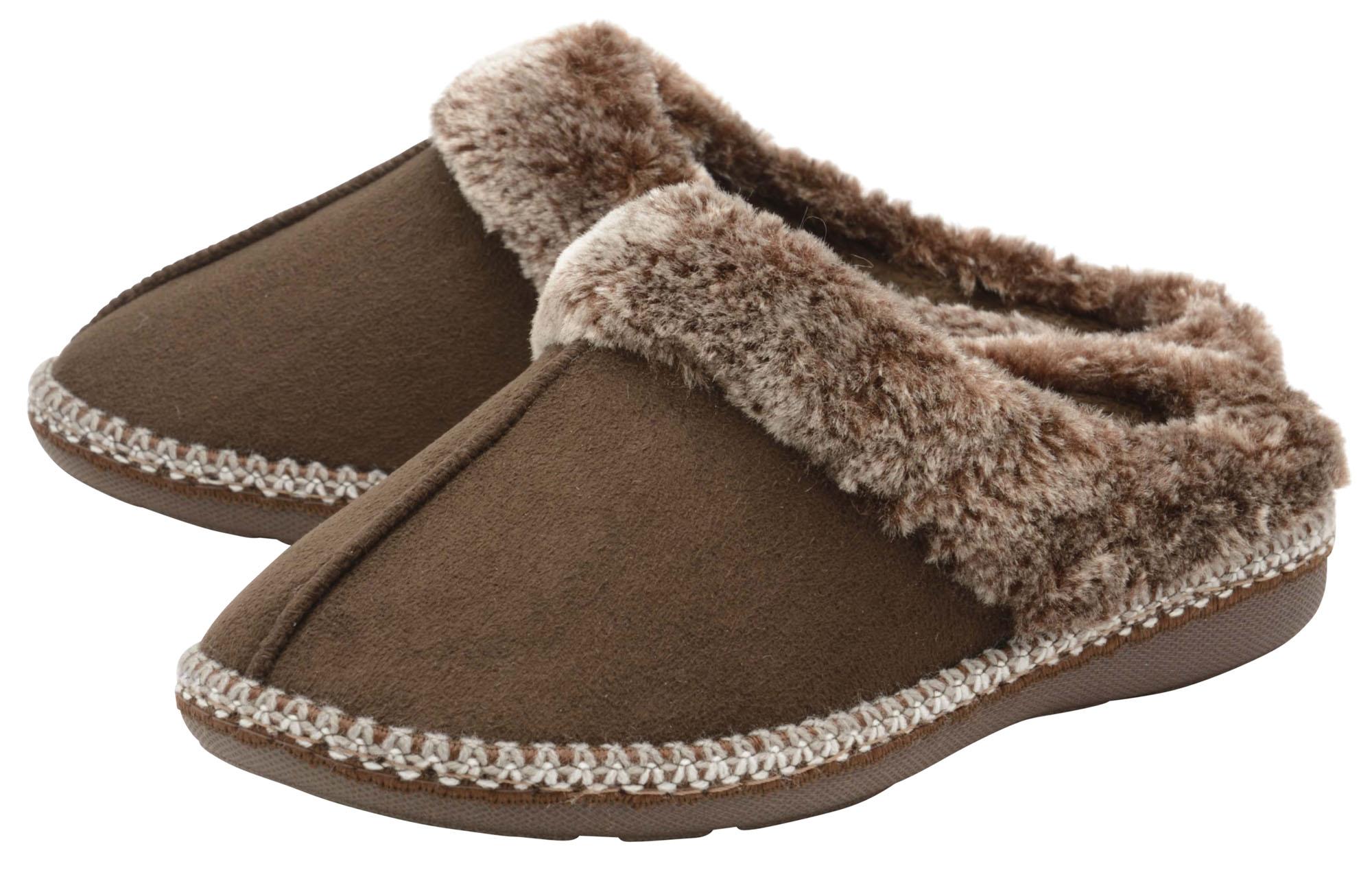 Dunlop Ladies Womens Slippers Slip On