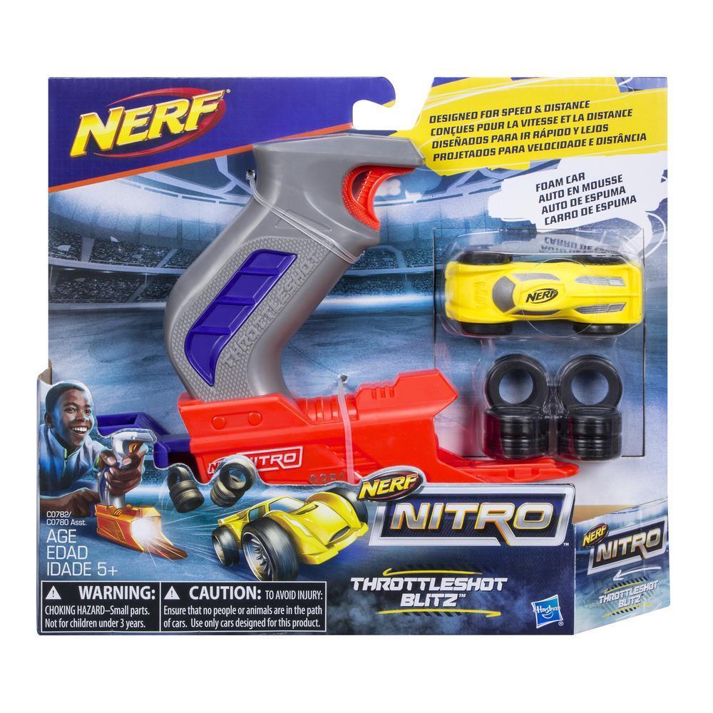 ** Nouveau ** Gris Blaster Nerf Nitro Throttle Shot Blitz