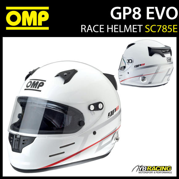 SC785E OMP Racing GP8 EVO Full Face Helmet Grand Prix 8 EVO FIA Approved