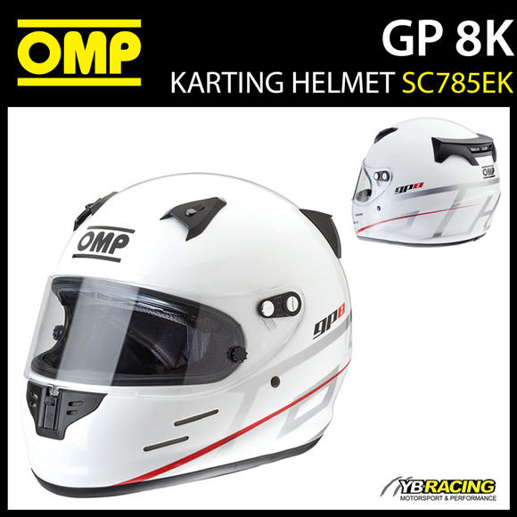 SC785EK OMP Karting GP8 K EVO Full Face Helmet GP 8 Kart EVO FIA Approved