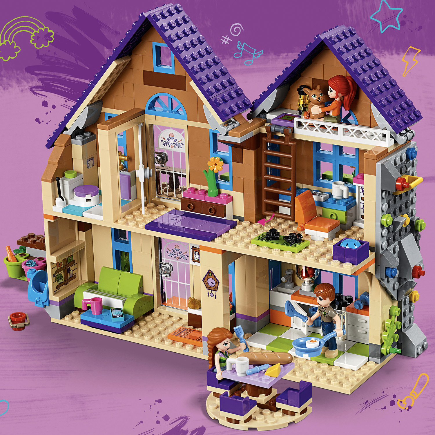 41369 LEGO Friends Mia's House 715 Pieces Age 6+ New ...
