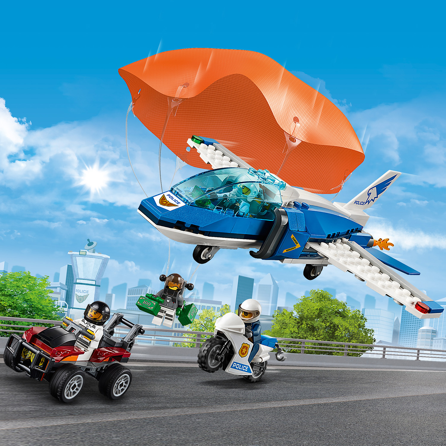 Free Tracked /& Signed Postage Lego City: Sky Police Parachute Arrest 60208